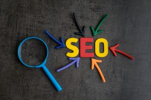 SEO letters in color