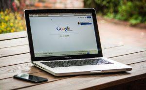 Google on screen of laptop